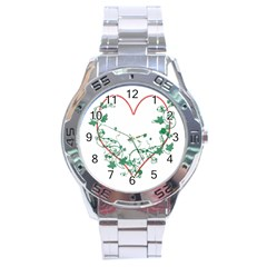 Heart Ranke Nature Romance Plant Stainless Steel Analogue Watch by Simbadda