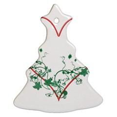 Heart Ranke Nature Romance Plant Ornament (christmas Tree)  by Simbadda