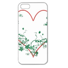 Heart Ranke Nature Romance Plant Apple Seamless Iphone 5 Case (clear) by Simbadda