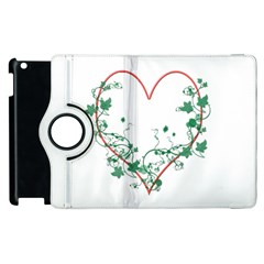 Heart Ranke Nature Romance Plant Apple Ipad 3/4 Flip 360 Case by Simbadda