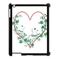 Heart Ranke Nature Romance Plant Apple Ipad 3/4 Case (black) by Simbadda