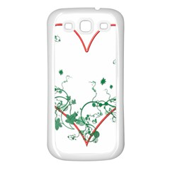 Heart Ranke Nature Romance Plant Samsung Galaxy S3 Back Case (white) by Simbadda