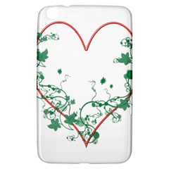 Heart Ranke Nature Romance Plant Samsung Galaxy Tab 3 (8 ) T3100 Hardshell Case  by Simbadda