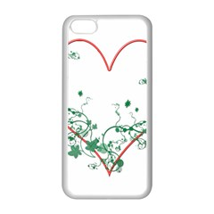 Heart Ranke Nature Romance Plant Apple Iphone 5c Seamless Case (white) by Simbadda
