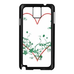 Heart Ranke Nature Romance Plant Samsung Galaxy Note 3 N9005 Case (black) by Simbadda