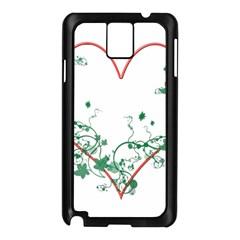 Heart Ranke Nature Romance Plant Samsung Galaxy Note 3 N9005 Case (black)