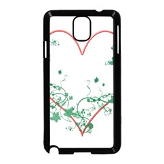Heart Ranke Nature Romance Plant Samsung Galaxy Note 3 Neo Hardshell Case (black) by Simbadda