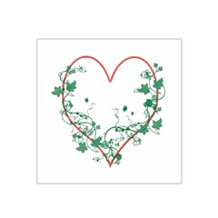 Heart Ranke Nature Romance Plant Satin Bandana Scarf by Simbadda