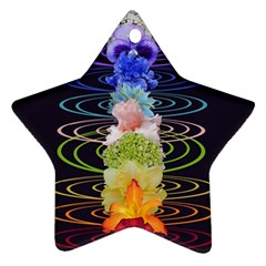 Chakra Spiritual Flower Energy Ornament (star) by Simbadda