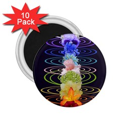 Chakra Spiritual Flower Energy 2 25  Magnets (10 Pack)  by Simbadda