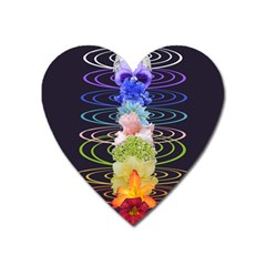 Chakra Spiritual Flower Energy Heart Magnet by Simbadda