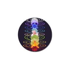 Chakra Spiritual Flower Energy Golf Ball Marker (4 Pack) by Simbadda