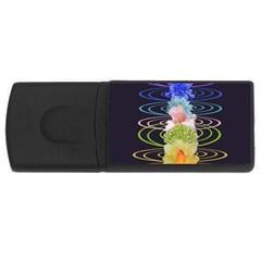 Chakra Spiritual Flower Energy Usb Flash Drive Rectangular (4 Gb) by Simbadda