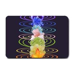 Chakra Spiritual Flower Energy Small Doormat  by Simbadda