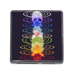 Chakra Spiritual Flower Energy Memory Card Reader (square) by Simbadda