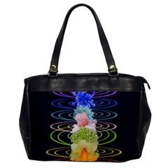 Chakra Spiritual Flower Energy Office Handbags by Simbadda