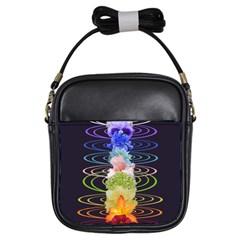 Chakra Spiritual Flower Energy Girls Sling Bags by Simbadda