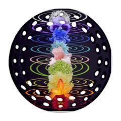 Chakra Spiritual Flower Energy Ornament (round Filigree) by Simbadda