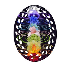 Chakra Spiritual Flower Energy Oval Filigree Ornament (two Sides) by Simbadda