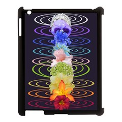 Chakra Spiritual Flower Energy Apple Ipad 3/4 Case (black) by Simbadda