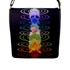Chakra Spiritual Flower Energy Flap Messenger Bag (l)  by Simbadda