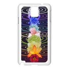 Chakra Spiritual Flower Energy Samsung Galaxy Note 3 N9005 Case (white) by Simbadda