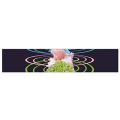 Chakra Spiritual Flower Energy Flano Scarf (small) by Simbadda