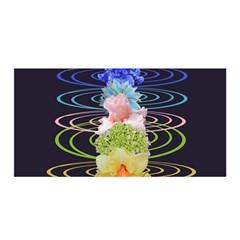 Chakra Spiritual Flower Energy Satin Wrap by Simbadda
