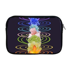 Chakra Spiritual Flower Energy Apple Macbook Pro 17  Zipper Case by Simbadda