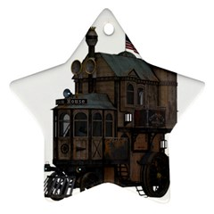 Steampunk Lock Fantasy Home Ornament (star) by Simbadda