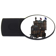 Steampunk Lock Fantasy Home Usb Flash Drive Oval (2 Gb) by Simbadda