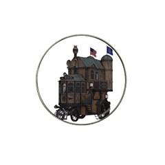 Steampunk Lock Fantasy Home Hat Clip Ball Marker by Simbadda