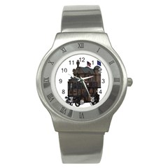 Steampunk Lock Fantasy Home Stainless Steel Watch by Simbadda
