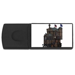 Steampunk Lock Fantasy Home Usb Flash Drive Rectangular (4 Gb) by Simbadda
