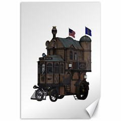 Steampunk Lock Fantasy Home Canvas 12  X 18   by Simbadda