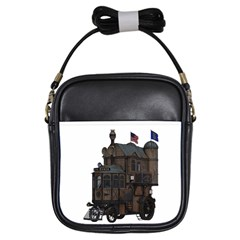 Steampunk Lock Fantasy Home Girls Sling Bags by Simbadda