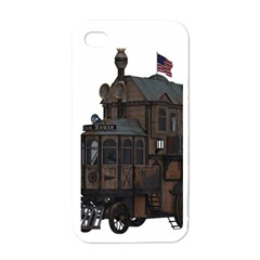 Steampunk Lock Fantasy Home Apple Iphone 4 Case (white) by Simbadda
