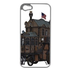 Steampunk Lock Fantasy Home Apple Iphone 5 Case (silver) by Simbadda