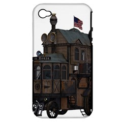 Steampunk Lock Fantasy Home Apple Iphone 4/4s Hardshell Case (pc+silicone) by Simbadda