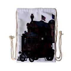 Steampunk Lock Fantasy Home Drawstring Bag (small) by Simbadda