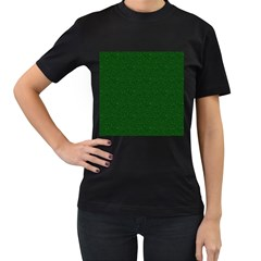 Texture Green Rush Easter Women s T Shirt (black) (two Sided) by Simbadda