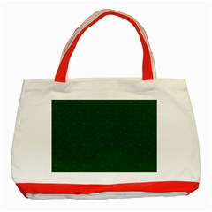 Texture Green Rush Easter Classic Tote Bag (red) by Simbadda
