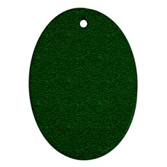 Texture Green Rush Easter Oval Ornament (two Sides) by Simbadda
