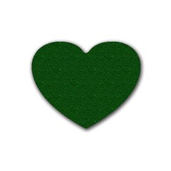 Texture Green Rush Easter Rubber Coaster (heart)  by Simbadda