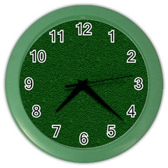 Texture Green Rush Easter Color Wall Clocks by Simbadda