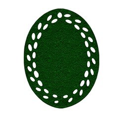 Texture Green Rush Easter Oval Filigree Ornament (two Sides) by Simbadda