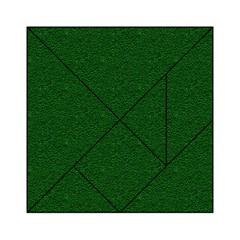 Texture Green Rush Easter Acrylic Tangram Puzzle (6  x 6 )