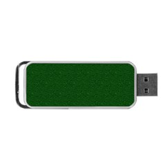 Texture Green Rush Easter Portable Usb Flash (two Sides) by Simbadda