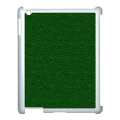 Texture Green Rush Easter Apple Ipad 3/4 Case (white) by Simbadda