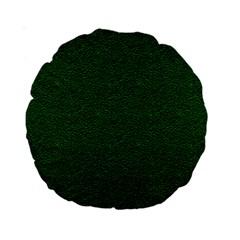 Texture Green Rush Easter Standard 15  Premium Round Cushions by Simbadda